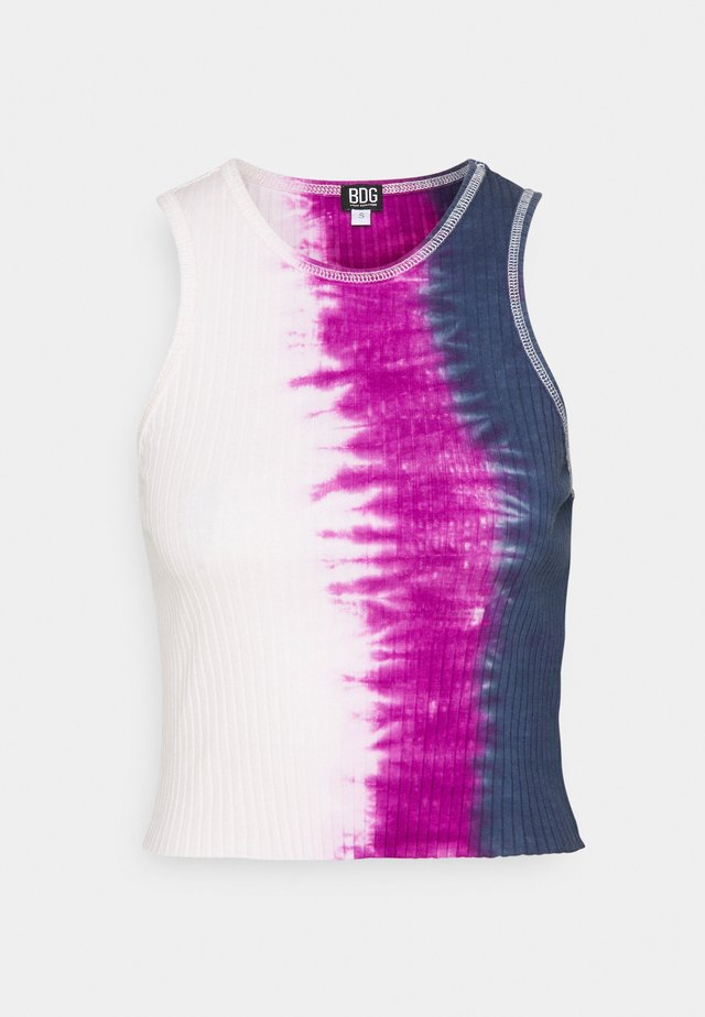 TIE DYE HIGH TANK - Top - pink