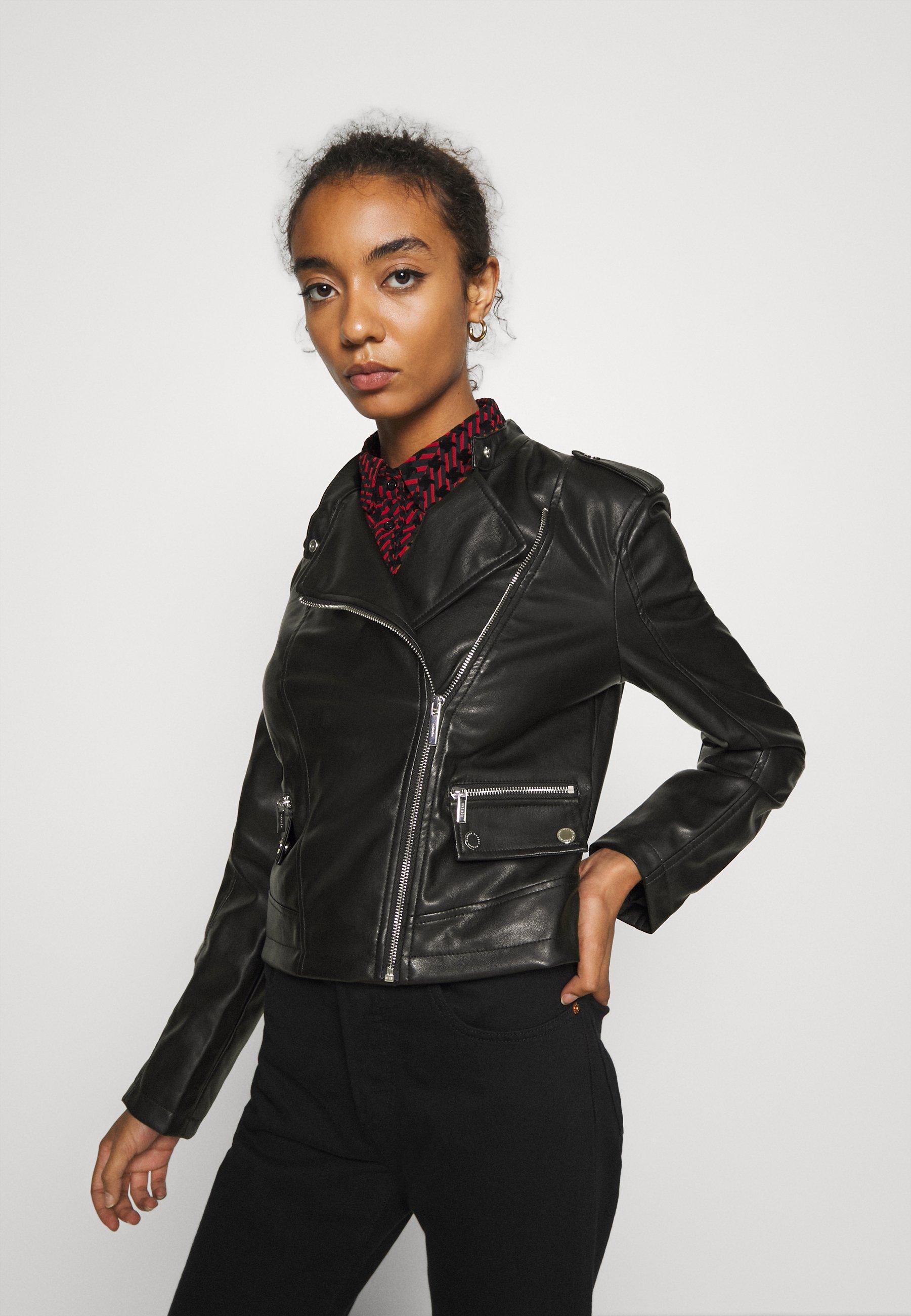 Morgan Veste en similicuir - noir - Vestes Femme QiCzK