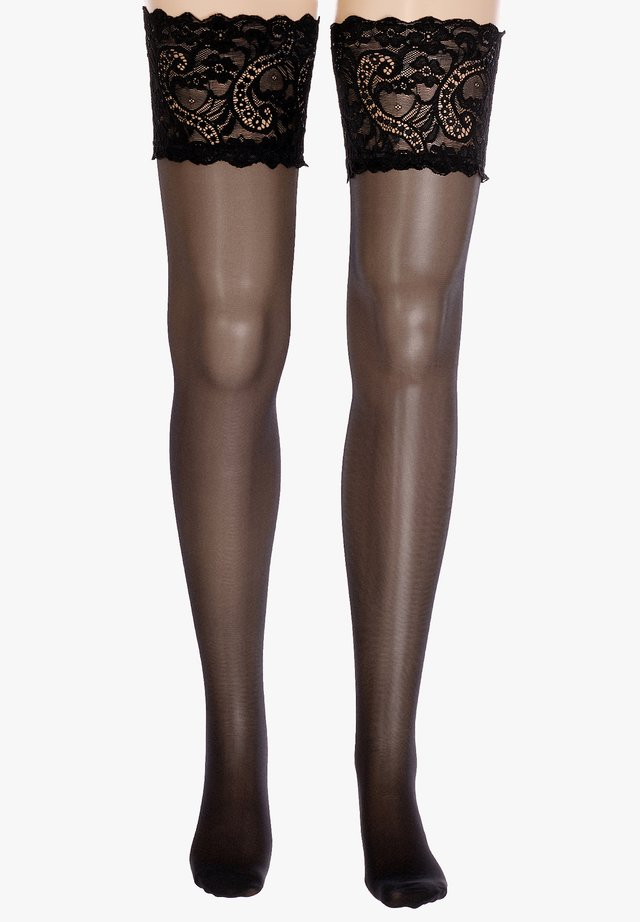 HOLD UPS  - Over-the-knee socks - black