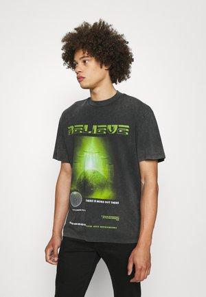 UFO - T-shirt print - black