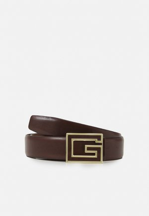 BELT SQUARE LOGO - Belte - dark brown