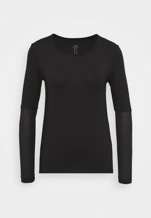 ICONIC LONG SLEEVE - Long sleeved top - black