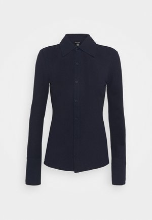 FITTED  - Button-down blouse - navy