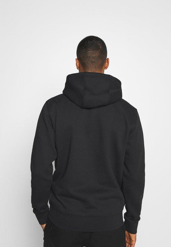 Tommy Jeans REGULAR FLEECE HOODIE - Bluza z kapturem - black/czarny Odzież Męska VPWU