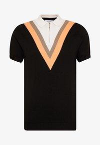 Bellfield - CHEVRON COLOUR BLOCK POLO - Polo shirt - black - 3