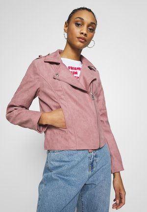 JDYPEACH BIKER - Faux leather jacket - wistful mauve