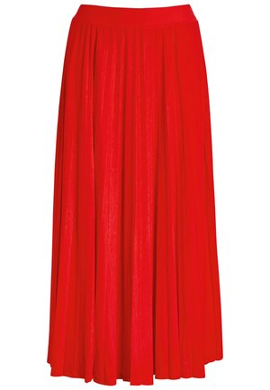 PINK FLORAL PLEATED - Pleated skirt - red