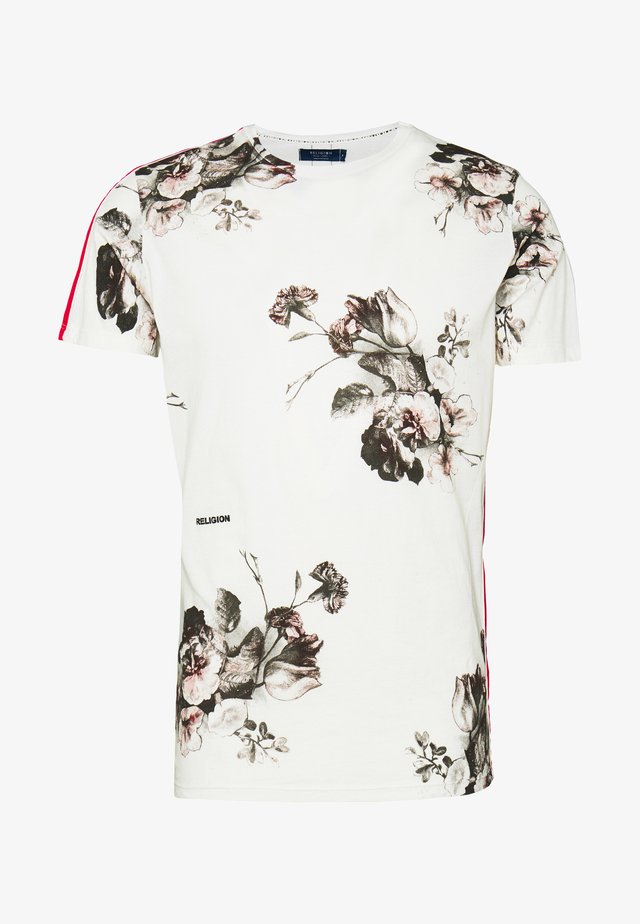STILL LIFE TEE - T-shirt imprimé - winter white/red