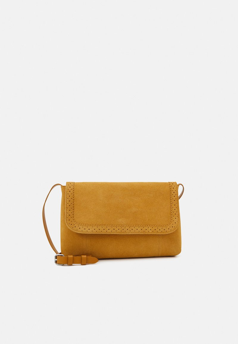 Even&Odd - LEATHER - Across body bag - mustard yellow