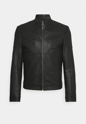 LONUS  - Leather jacket - black
