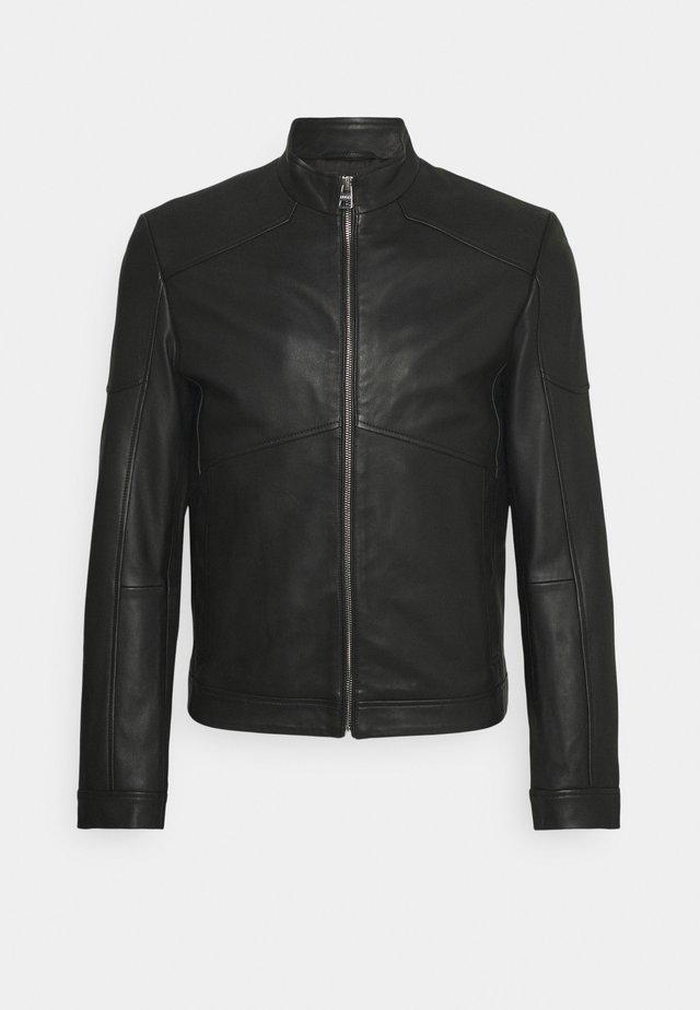 LONUS  - Leather jacket - black