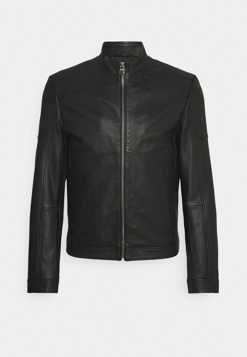 HUGO - LONUS  - Leather jacket - black