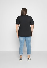 Calvin Klein Jeans Plus - MONOGRAM LOGO REG FIT TEE - Print T-shirt - black - 2