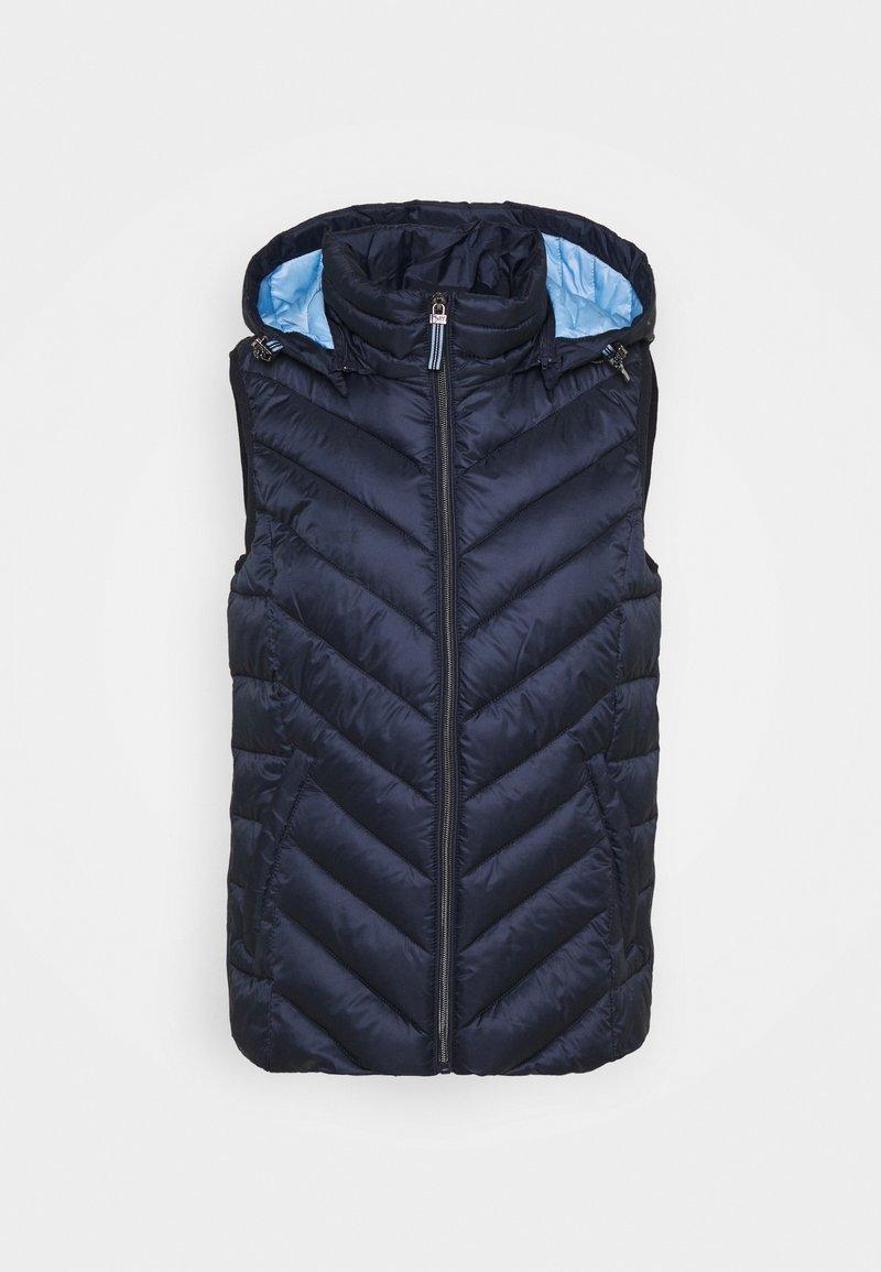 Esprit - PER THINSU VEST - Waistcoat - dark blue