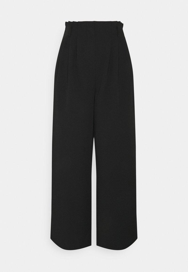 Moss Copenhagen - AMILA PANTS - Trousers - black