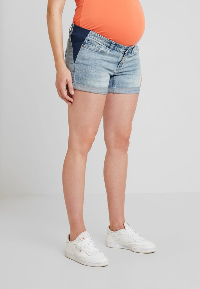 SIDE ELASTIC - Shorts vaqueros - denim