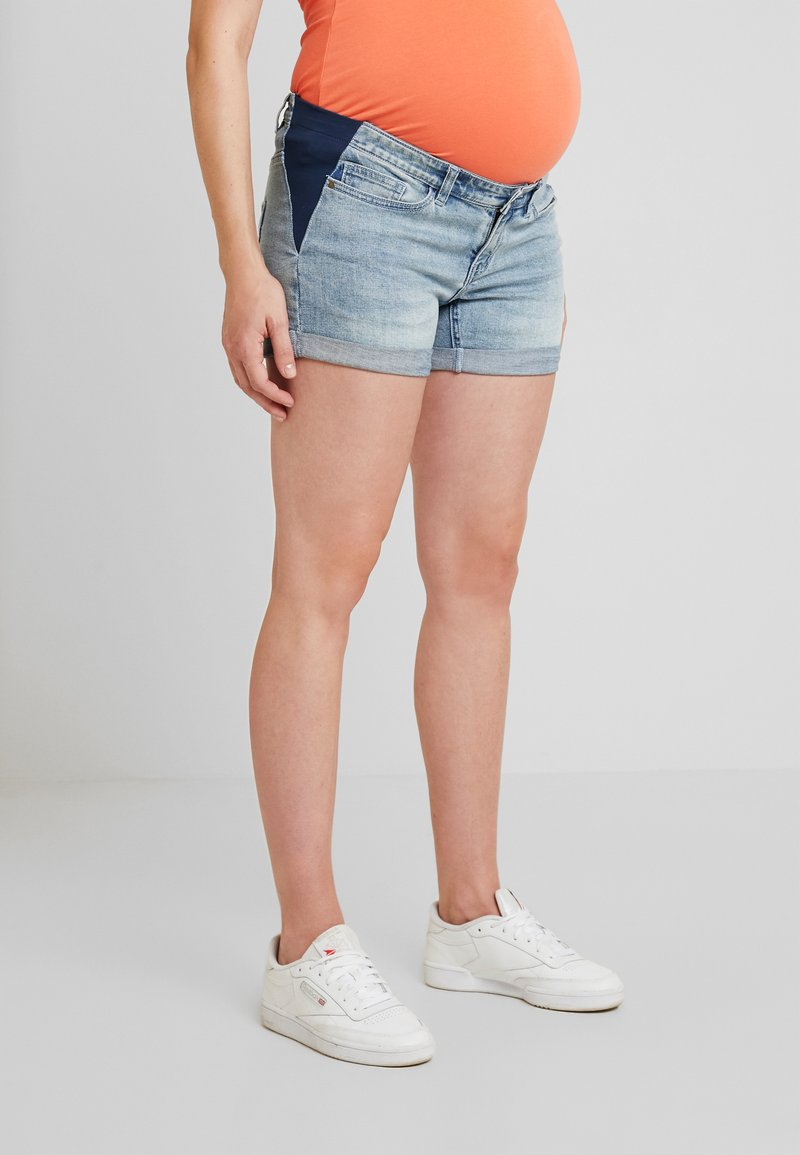 Forever Fit - SIDE ELASTIC - Shorts di jeans - denim