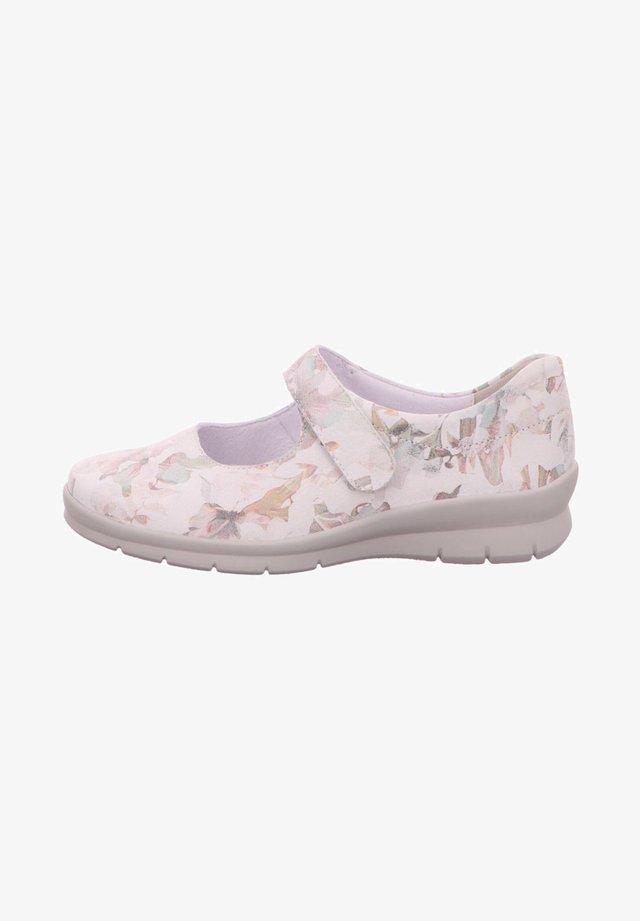Ankle cuff ballet pumps - weiss