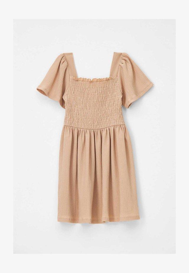 REGULAR FIT  - Jersey dress - brown