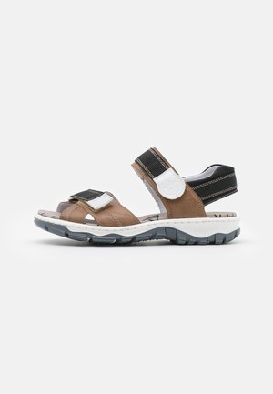 Sandalen - schwarz/weiß