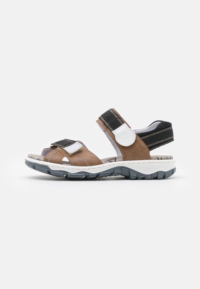 Sandaler - schwarz/weiß