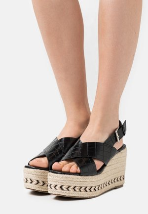 Plateausandalette - black