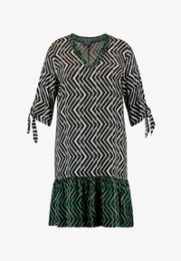 Samoon - SAUMVOLANT - Day dress - black gemustert - 0