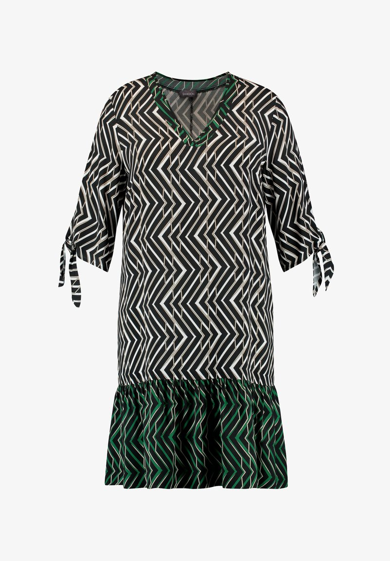 Samoon - SAUMVOLANT - Day dress - black gemustert