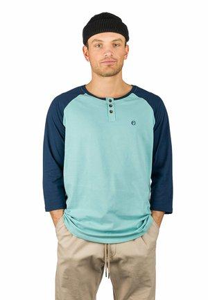 Long sleeved top - dress blue + niles blue