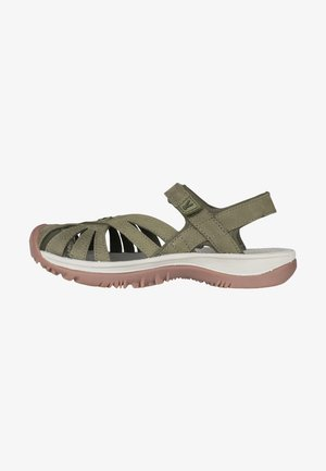 ROSE SANDAL LEATHER - Walking sandals - forest night