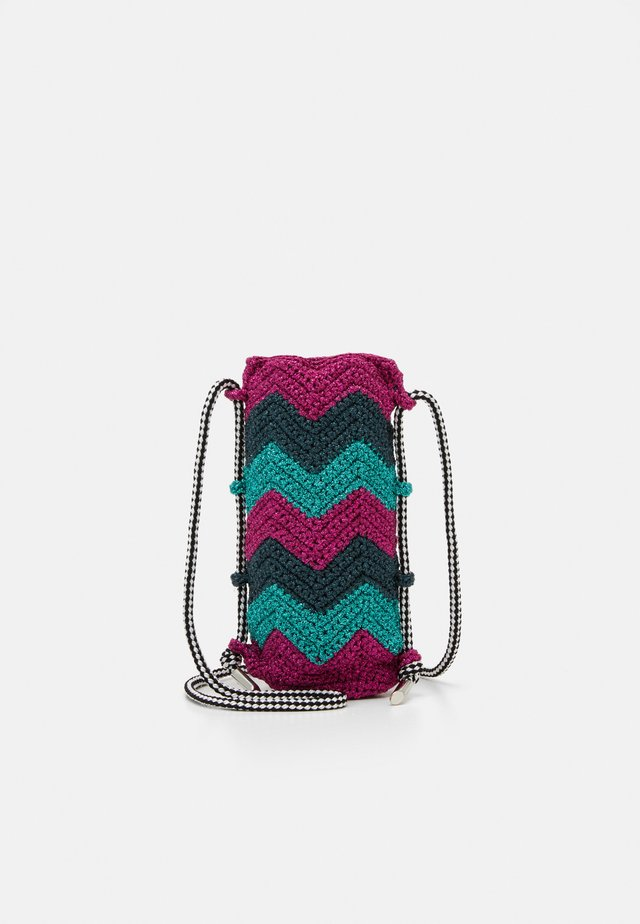 PORTA BORRACCIA  - Across body bag - pink/teal