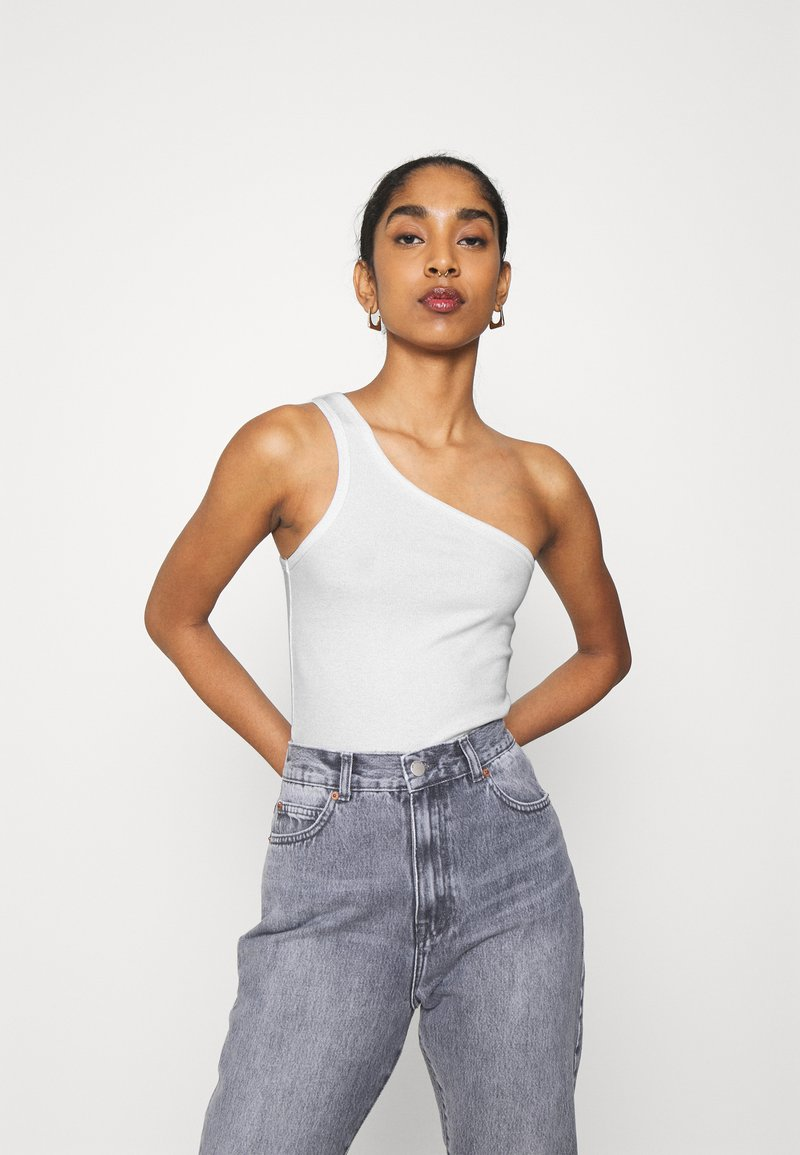 Weekday - VIDA ONE SHOULDER - Débardeur - white