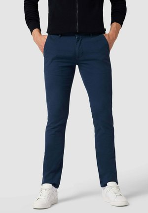 CHINO MIT STRETCH-ANTEIL MODELL - Trousers - dunkelblau