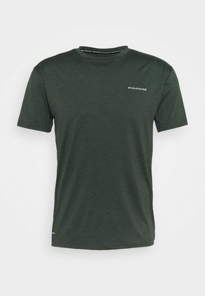 MELL MELANGE TEE - Basic T-shirt - deep forest