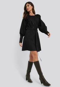 NA-KD - BALLOON SLEEVE - Day dress - black - 1