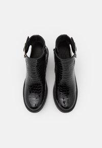 Topshop - BRYCE CUT OUT UNIT - Platform ankle boots - black - 4