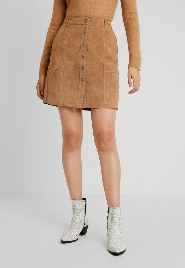 SLFAVI SPLIT SKIRT  - Minirok - tigers eye