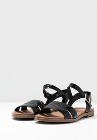 New Look Wide Fit - WITE FIT GOLLY GREAT COMFY FOOTBED - Sandaler - black - 4