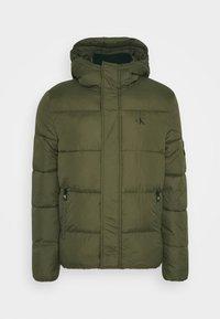 Calvin Klein Jeans - HOODED PUFFER JACKET - Winter jacket - deep depths - 4