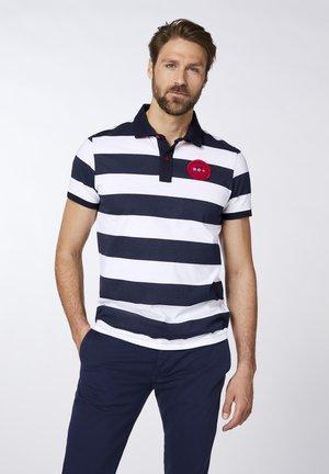Polo shirt - dark blue/white