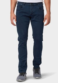 TOM TAILOR - TROY - Slim fit jeans - dark stone blue black denim - 0
