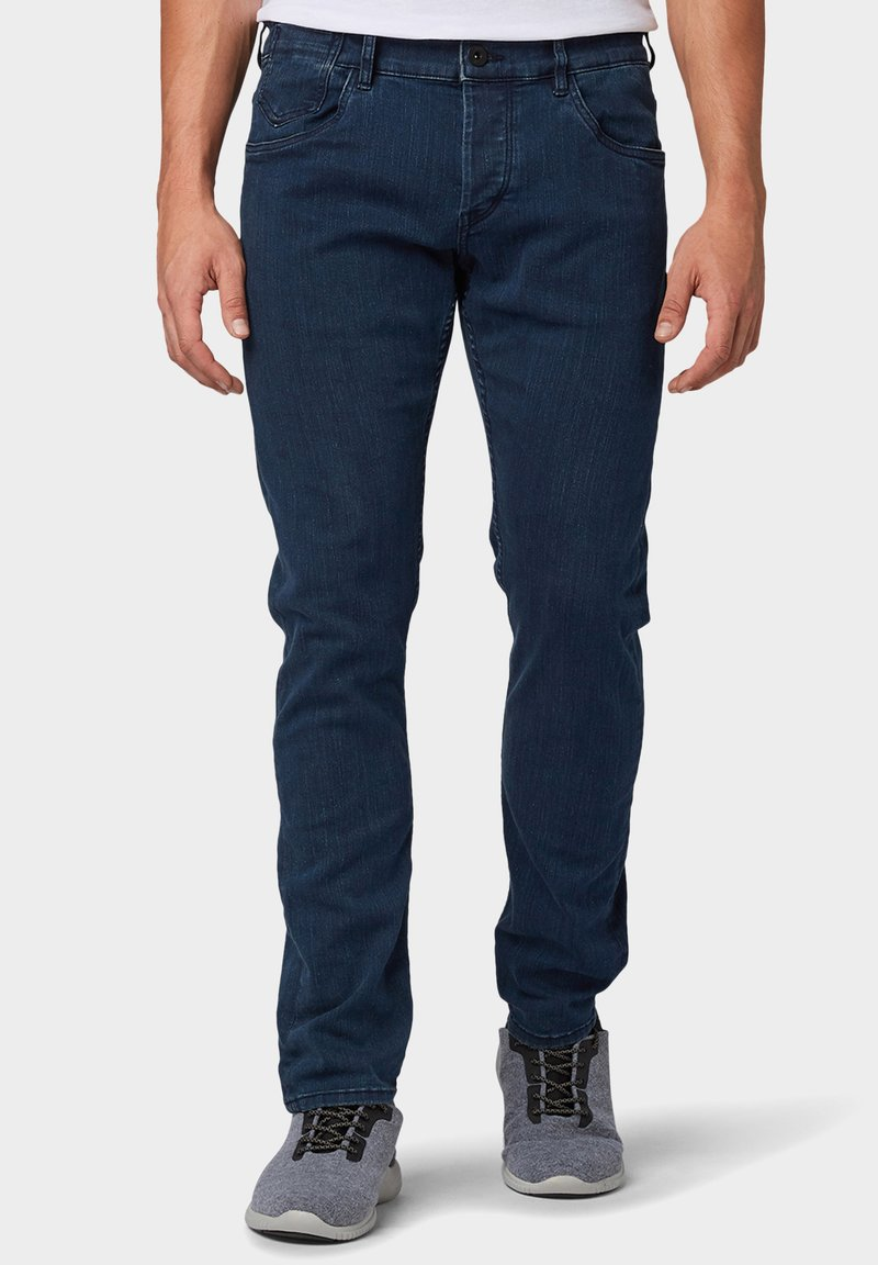 TOM TAILOR - TROY - Slim fit jeans - dark stone blue black denim