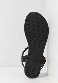 Anna Field Wide Fit - T-bar sandals - black - 6