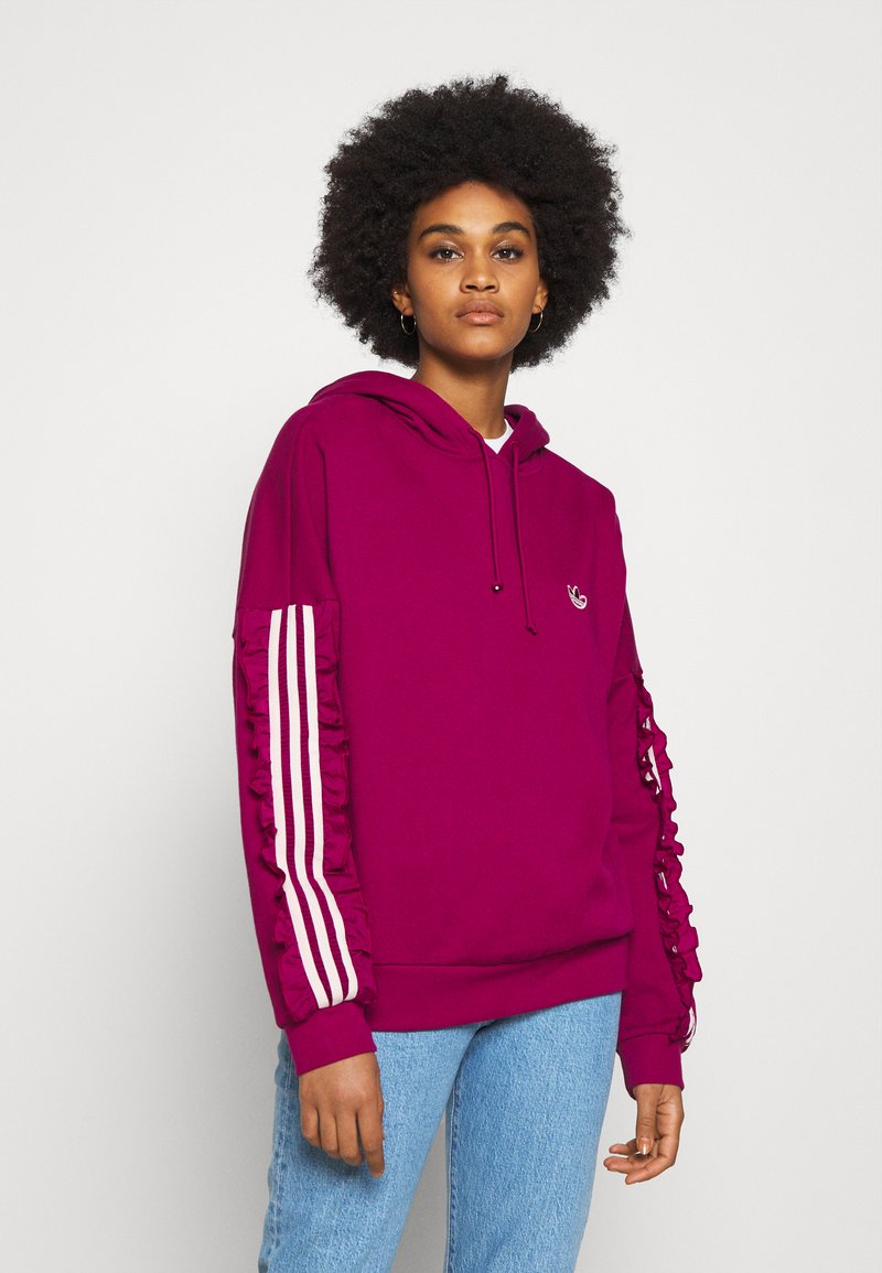 adidas Originals - BELLISTA SPORTS INSPIRED HOODED  - Hoodie - power berry