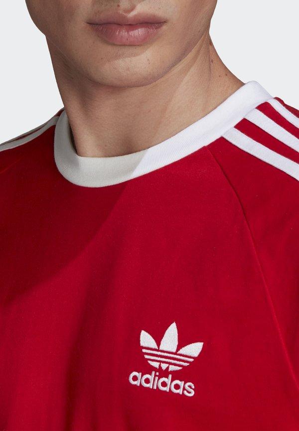 adidas Originals ADICOLOR CLASSICS 3-STRIPES LONG SLEEVE TEE - Bluzka z długim rękawem - scarlet/czerwony Odzież Męska FDMQ