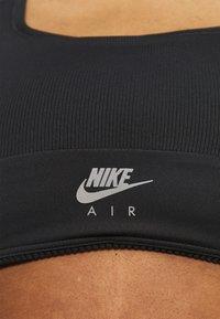 Nike Performance - AIR BRA - Medium support sports bra - black/reflective silver - 5