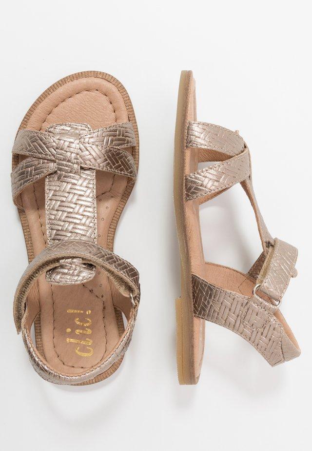 Sandals - trenza stone