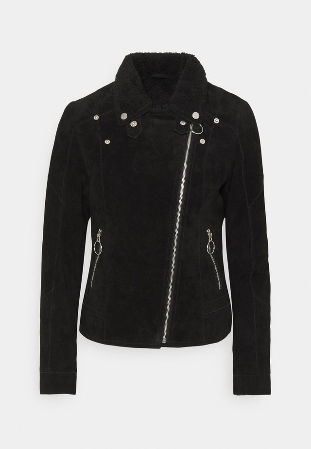 EARLY WINTER - Leather jacket - black