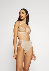 NA-KD - ROMANTIC FRENCH EMBROIDED HIGHWAIST PANTY - Shorty - tapioca - 1