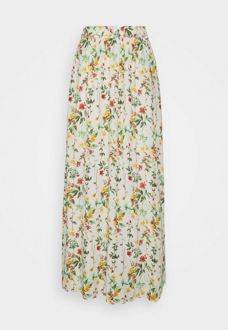 Object Tall - OBJLORENA LONG SKIRT  - Maxi sukně - sandshell/alba
